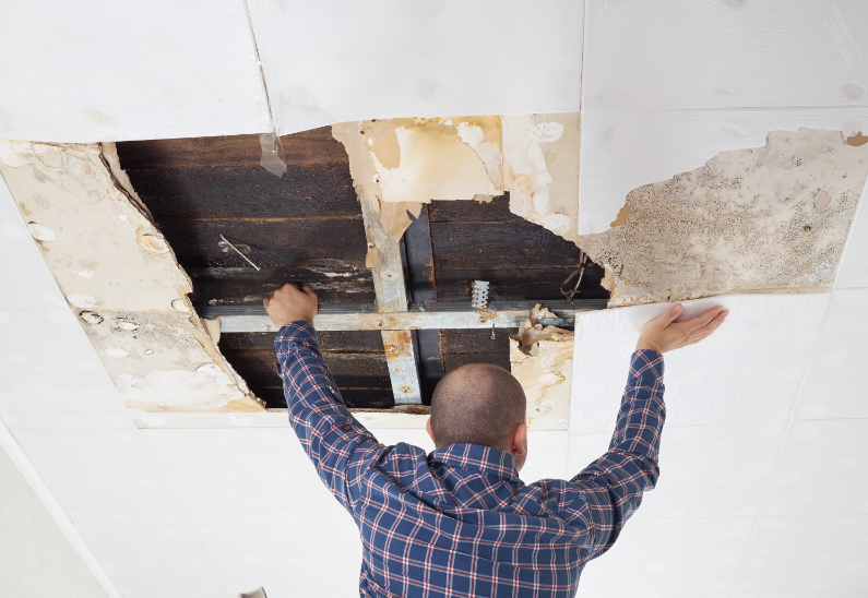 Commercial Painting Sandy Springs & Atlanta Dry wall water damage 2